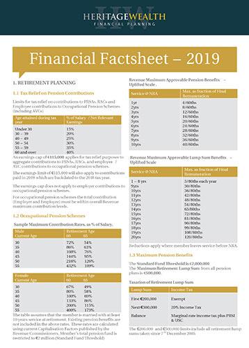 Heritage Wealth Financial Factsheet 2019