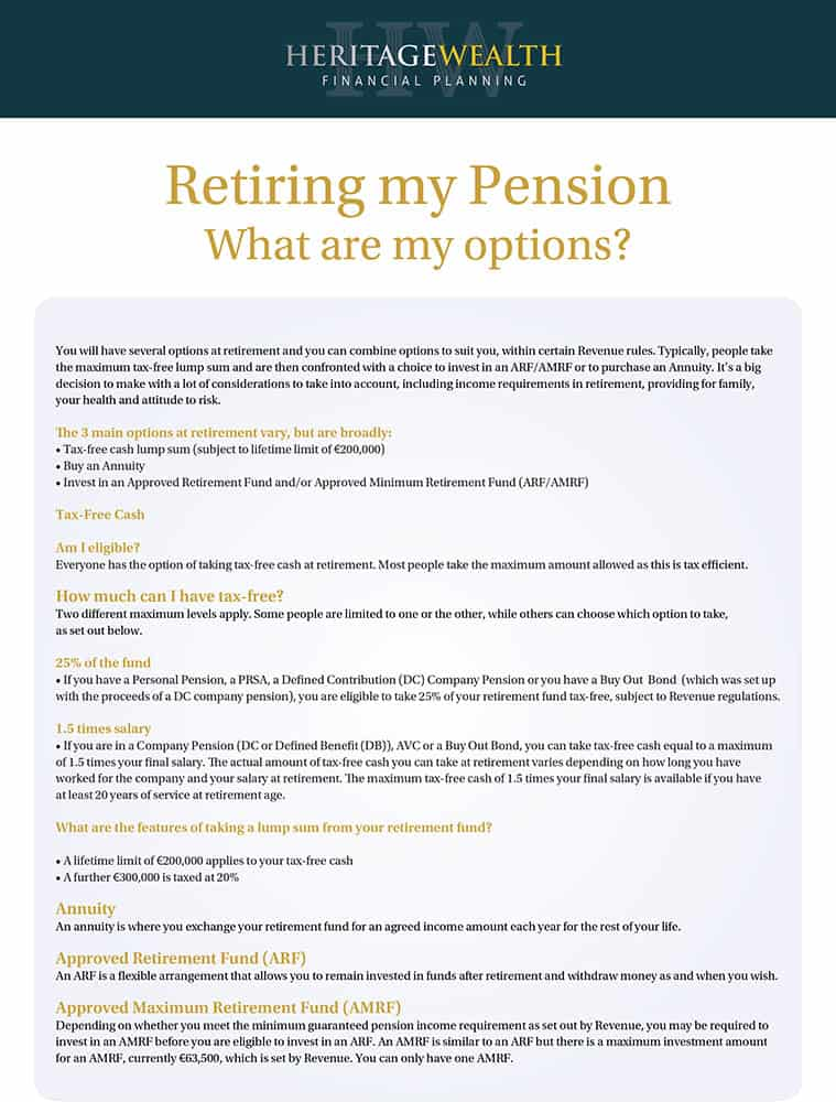Retiring my Pension - What are my options?